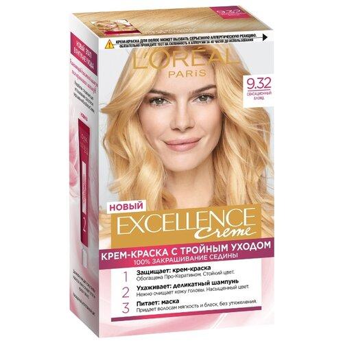 L'Oreal Paris Excellence стойкая крем-краска для волос, 9.32, Сенсационный блонд l oreal paris excellence стойкая крем краска для волос excellence оттенок тёмно русый бежевый