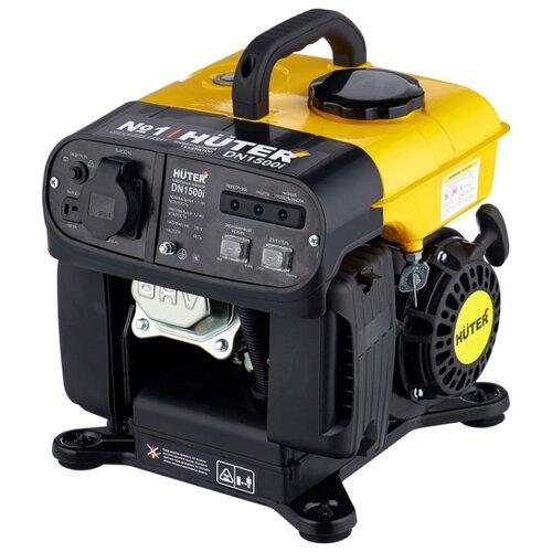 Фото - Бензиновый генератор Huter DN1500i new (1100 Вт) бензиновый генератор huter dy3000lx 2500 вт