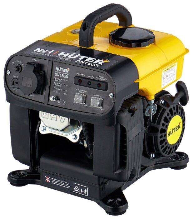 Бензиновый генератор Huter DN1500i (1100 Вт)