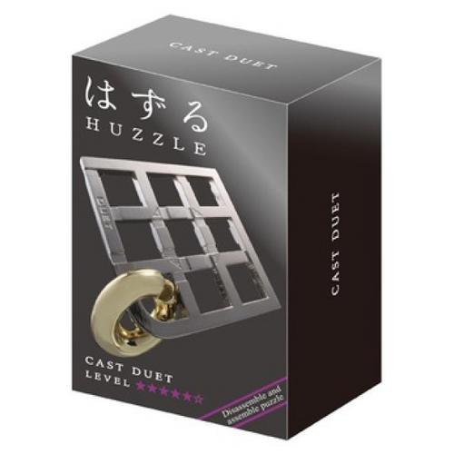Головоломка Cast Puzzle Duet, уровень сложности 5 (HZ 5-08) серый/желтый головоломка cast puzzle mobius 55208 желтый