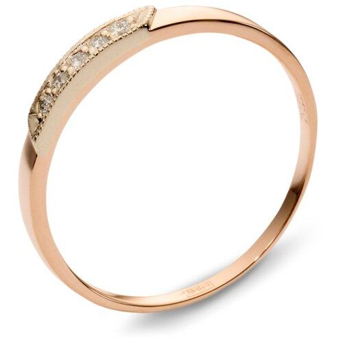Эстет Кольцо с 5 бриллиантами из комбинированного золота 01О660059, размер 19