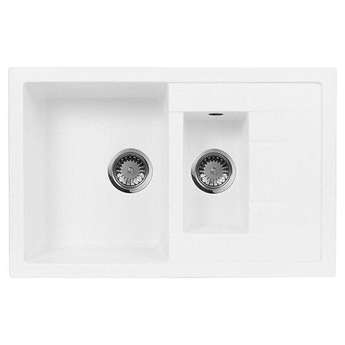 цена на Врезная кухонная мойка 78 см А-Гранит M-21K M-21K(331) белый
