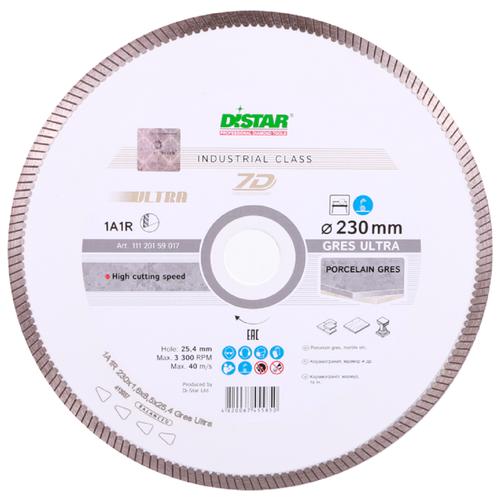 Диск алмазный отрезной 230x1.6x25.4 Di-Star 1A1R Gres Ultra 11120159017 1 шт.