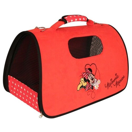 Сумка-переноска для собак Triol Disney Minnie 50х29х28 см красный сумка переноска для собак triol лаура 46х26 5х28 см голубой серый