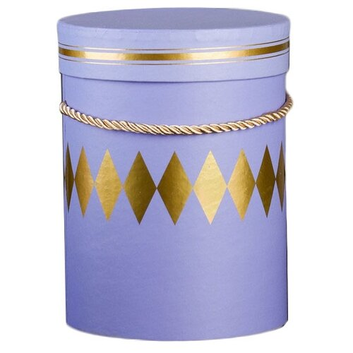 Коробка подарочная Yiwu Youda Import and Export круглая для цветов 14 х 18.5 х 14 см фиолетовый