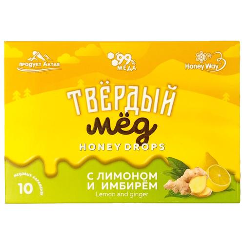 Карамель медовая Твёрдый мёд с лимоном и имбирем 30 г мёд суфле le petit nuage с имбирем 215 г
