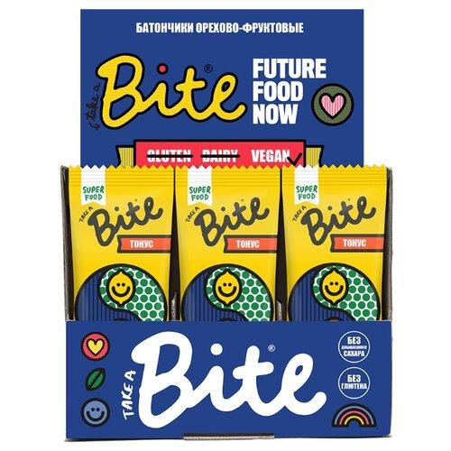 Фруктовый батончик Bite Box Тонус без сахара Кумкват-Лимон, 20 шт фруктовый батончик bite box мята без сахара 20 шт