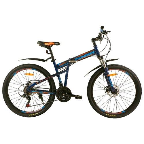 """Горный (MTB) велосипед Pioneer Shuttle темно синий-синий-оранжевый 17"""" (требует финальной сборки)"""