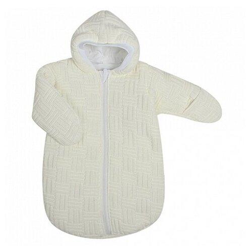 Купить Спальный мешок вязанный, состав: пряжа 100% акрил, внутри тонкий слой синтепона, на подкладке из 100 (бежевый (рост: 62 см)), Kidboo, Конверты и спальные мешки