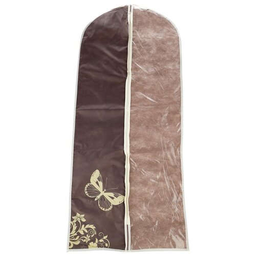 HAUSMANN Чехол для платьев AC006-2/4P-302 60x137 см коричнево-бежевый с бабочкой