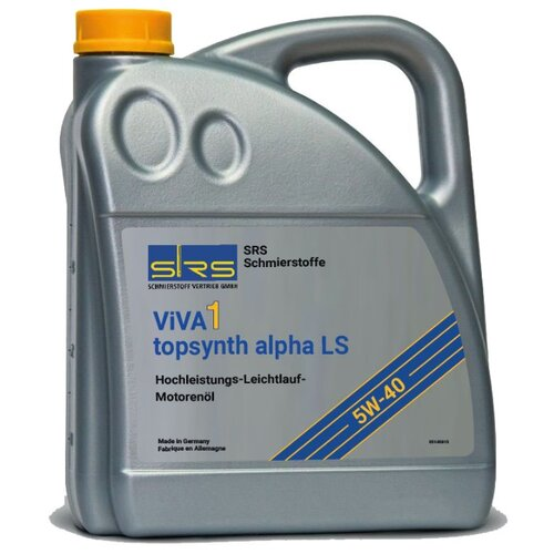 Моторное масло SRS ViVA 1 Topsynth alpha LS 5W40 4 л