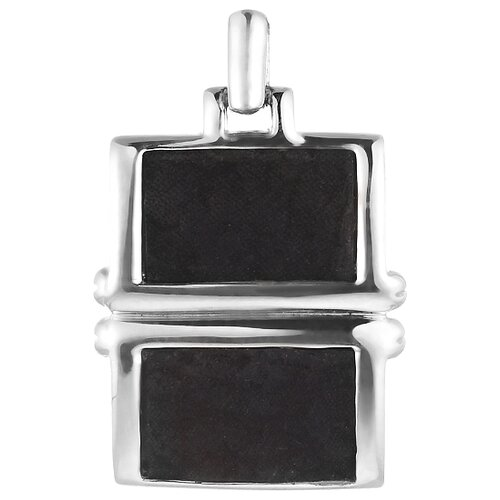 JV Подвеска с кожей из серебра P100444-BKJ-WG