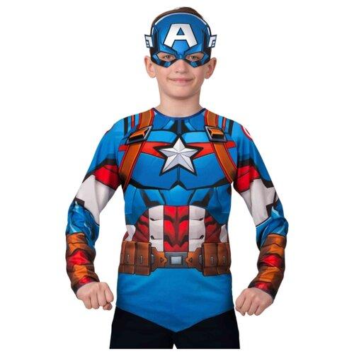 Купить Костюм Батик Капитан Америка (5853), синий/оранжевый, размер 140, Карнавальные костюмы