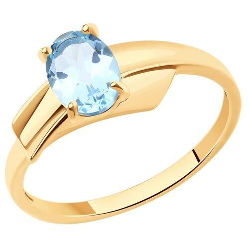 SOKOLOV Кольцо из золота с топазом 37716138, размер 17
