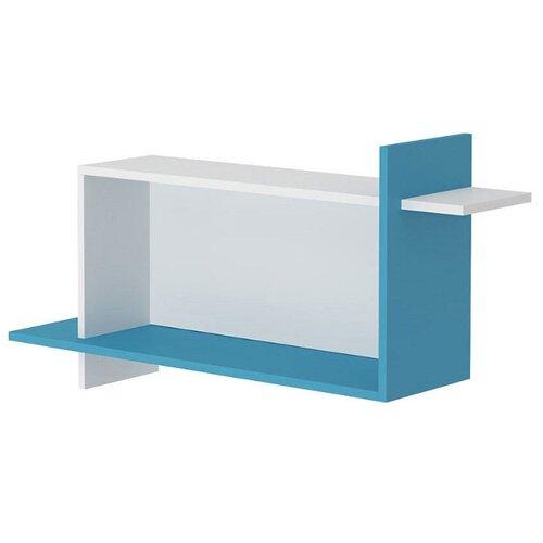 Полка Мэрдэс Домино Нельсон ПК-16 100х24 см , белый жемчуг/синий мрамор