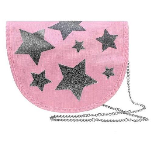 Фото - Сумка кросс-боди Mary Poppins, металл, розовый/серый сумка бочонок mary poppins зайка 530035 пластик розовый голубой