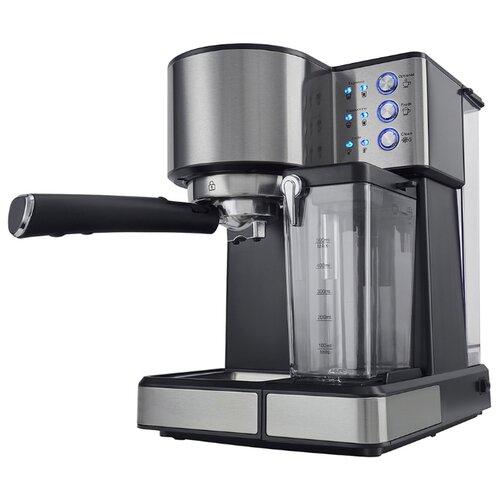 Кофеварка рожковая Polaris PCM 1536E Adore Cappuccino, серый/черный