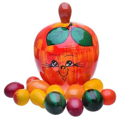 Набор продуктов Русская народная игрушка Счетный материал в яблоке R-45/784 красный/желтый/зеленый фото