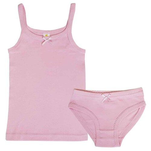 Комплект нижнего белья Папитто размер 92-98, темно-розовый комплект нижнего белья ibala размер 30 92 98 белый розовый красный