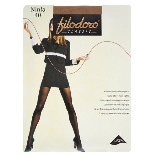 Фото - Колготки Filodoro Classic Ninfa, 40 den, размер 4-L, playa (бежевый) колготки filodoro classic ok shape 40 den размер 4 l playa бежевый