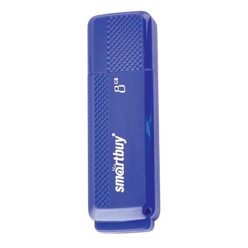 Фото - Флешка SmartBuy Dock USB 2.0 8GB синий флешка smartbuy click 8gb черный синий