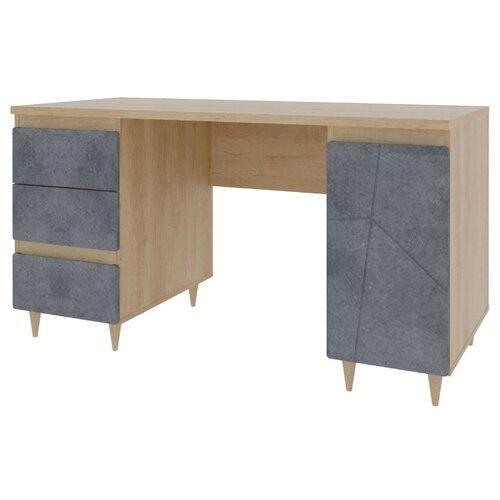 цена на Письменный стол Stolline Киото СТЛ.339.06, 137х67.5 см, цвет: дуб небраска/бетон темный