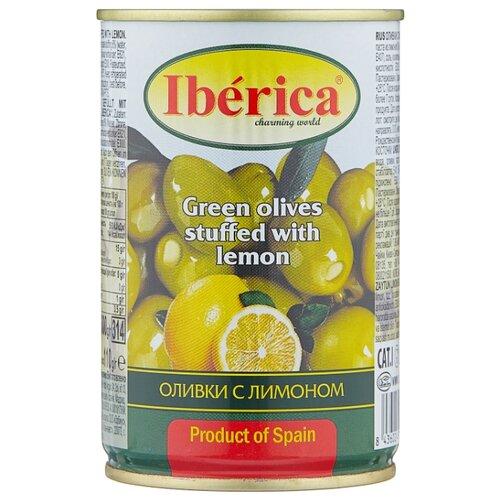 Iberica Оливки с лимоном в рассоле, жестяная банка 300 г iberica оливки с миндалём в рассоле стеклянная банка 370 г