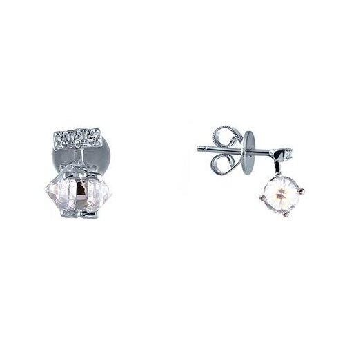 Фото - JV Серьги с фианитами из серебра SS-B0856E-SR-001-WG jv серьги с фианитами из серебра ss b0837ec sr 002 wg