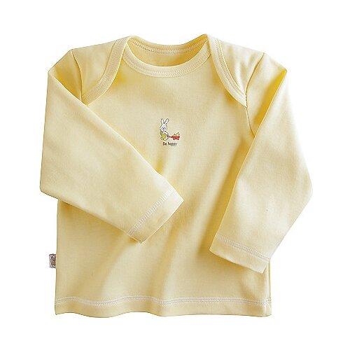 Купить Лонгслив Наша мама размер 68, желтый, Футболки и рубашки