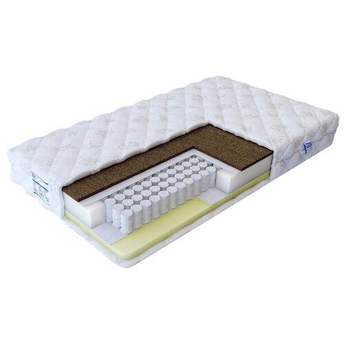 Матрас Промтекс-Ориент Soft мемори 140x200 пружинный белый