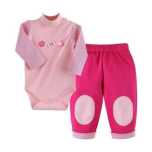 Комплект одежды Наша мама размер 74, розовый наша мама натуральный комплекс