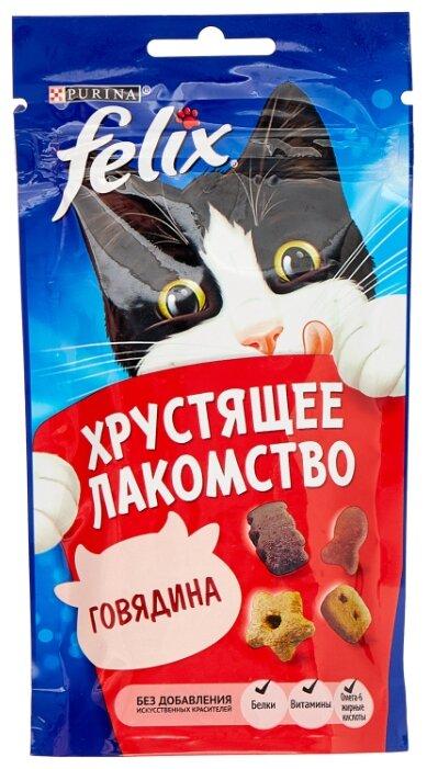 Лакомство для кошек Felix Хрустящее лакомство со вкусом говядины