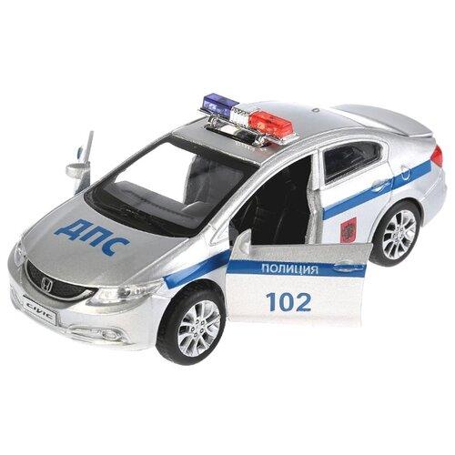 Купить Легковой автомобиль ТЕХНОПАРК Honda Civic (CIVIC-P) 12 см серебристый, Машинки и техника