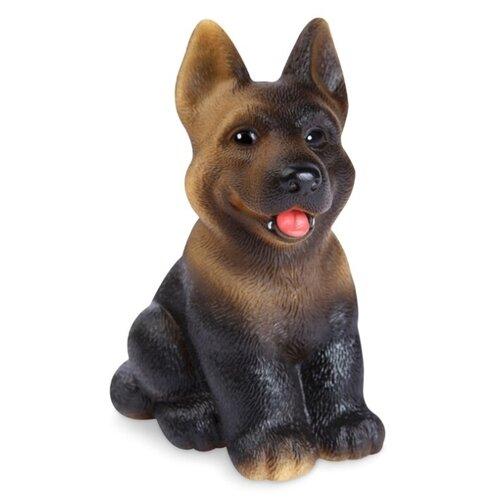 Купить Игрушка для ванной ОГОНЁК Щенок Бакс (С-565) коричневый/черный, Игрушки для ванной