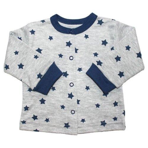 Купить Распашонка Веселый Малыш размер 86, серый/синий, Распашонки
