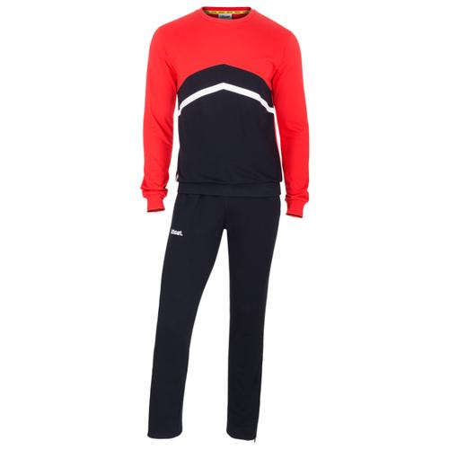 Тренировочный костюм Jogel Jcs-4201-621, хлопок, черный/красный/белый (M)