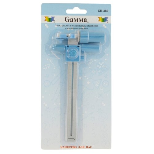 Купить Gamma Нож-циркуль CK-380 d18мм синий/серебристый, Инструменты и аксессуары