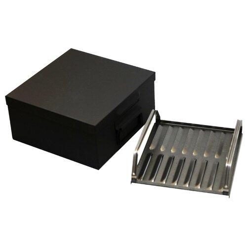 Коптильня КТ малая однорядная, 34x31x14,5 см, черный