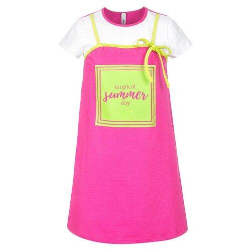 Платье Nota Bene размер 122, фуксия платье tutto bene tutto bene tu009ewmgv36