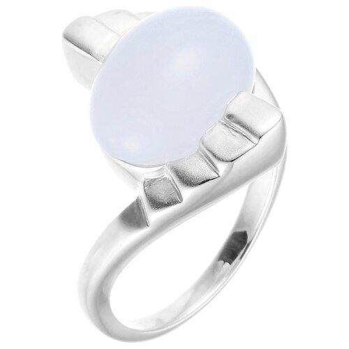 цена на JV Кольцо с халцедоном из серебра FGR-01114-CH-WG, размер 17.5