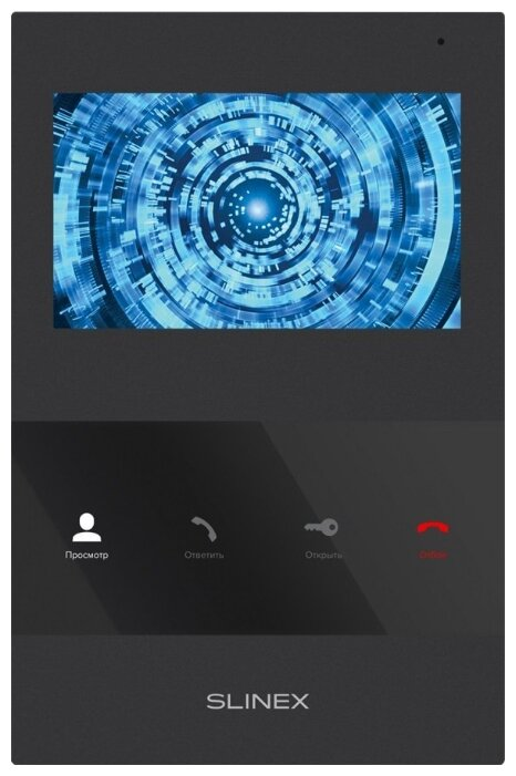 Домофон (переговорное устройство) Slinex SQ-04M черный (домофон)