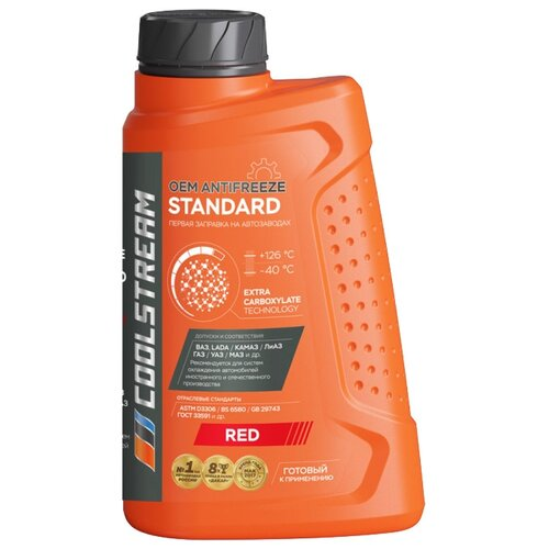 Антифриз Coolstream Standard Red 1 кг антифриз coolstream standard 40 зеленый 5 л