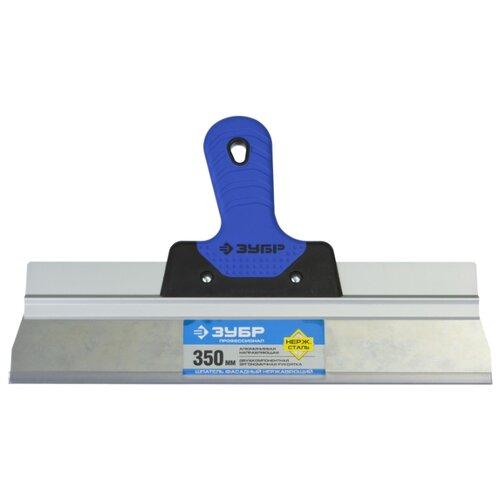 Фото - Шпатель фасадный ЗУБР 10049-35 350 мм синий/черный шпатель фасадный зубр 10077 20 200 мм черный