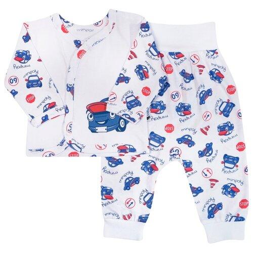 Купить Комплект одежды Клякса размер 20-62, бело-синий, Комплекты