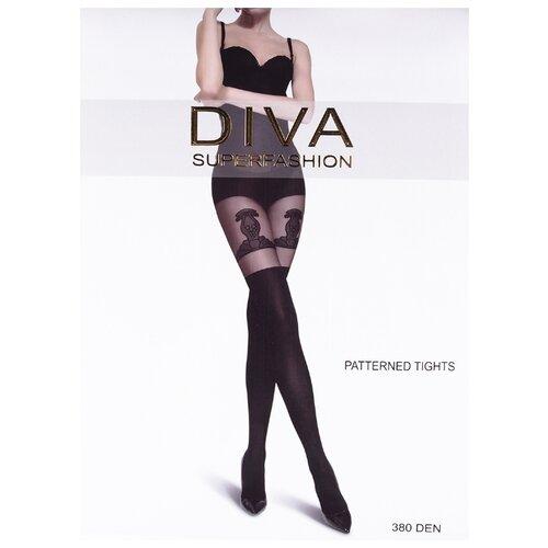 Колготки DIVA SUPERFASHION DK-72 380 den, размер free size, черный колготки diva superfashion secret 128 380 den размер free size черный черный