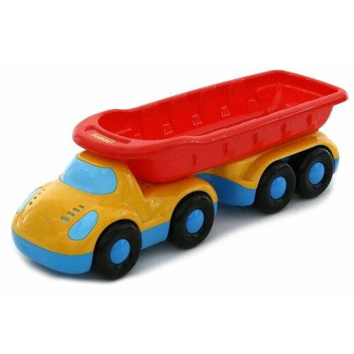 Купить Грузовик Полесье Дружок с полуприцепом (48486) 42 см голубой/желтый/красный, Машинки и техника