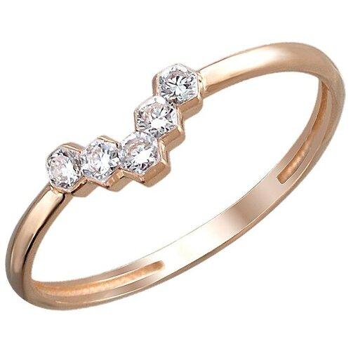 Эстет Кольцо с 5 бриллиантами из красного золота 01К6111507Z, размер 17.5 фото