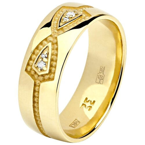 Эстет Кольцо с 4 бриллиантами из жёлтого золота 01О630334, размер 18.5