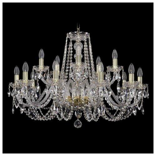 Люстра Bohemia Ivele Crystal 1402 1402/10+5/300/G, E14, 600 Вт bohemia ivele crystal 1402 5 141 g tube