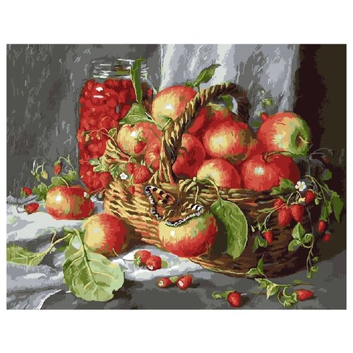 ВанГогВоМне Картина по номерам Лукошко яблок , 40х50 см (ZX 20193), Картины по номерам и контурам  - купить со скидкой